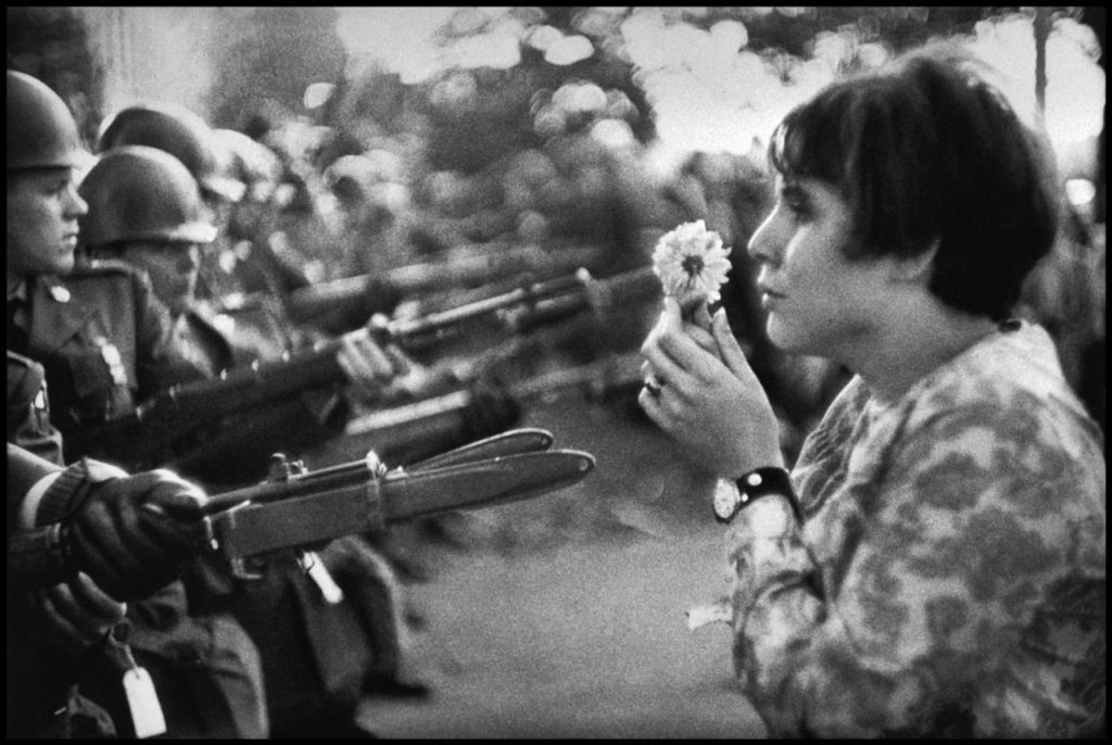 Peace March, Washington, D.C., 1967. By Marc Riboud