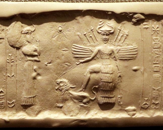 Αυτή η εικόνα δεν έχει ιδιότητα alt. Το όνομα του αρχείου είναι Seal_of_Inanna_2350-2150_BCE.jpg